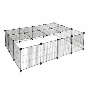 Freigehege Indoor DIY Laufstall Laufgitter 147x111x37cm 0012WL B-Ware