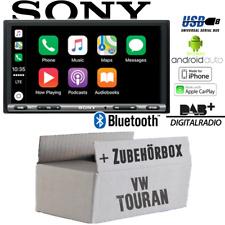 Sony Radio für VW Touran Bluetooth DAB+ Apple CarPlay Android Auto USB Einbauset