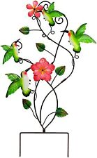 Hummingbirds Outdoor Lawn Garden Decor Patio Stake Yard Wall Art Ornament Statue