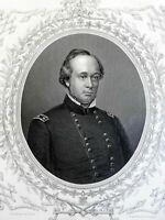 Henry Wager Halleck Union General 1863 Virtue Civil War portrait