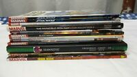 Marvel large Lot of 12 Graphic novels TBD Iron man, Black Widow, Scarlet witch