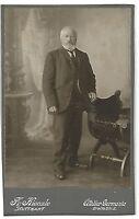 CAB **Mann im Anzug wohlhabend **Kulisse * Stuttgart um 1900