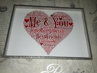 me & you together forever valentines day soul mates word art gift