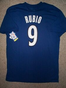($28) Minnesota Timberwolves RICKY RUBIO Jersey Shirt Adult MENS/MEN'S (L-LARGE)