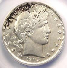 1903 Barber Half Dollar 50C - ANACS AU53 Details - Rare Certified Coin!
