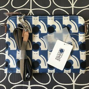 Genuine ORLA KIELY Blue Poppy Cat Print Messenger Bag ~ NEW with Tags ~ Sealed