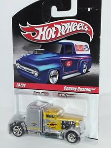 """H.W.  """" Delivery Series """" # 25 of 34 , (  Convoy Custom ) Yellow / Silver , 2009"""