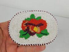 Native American Shoshone Bannock Multi Colored Beaded Flower Belt Buckle
