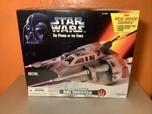 Star Wars Power Of The Force POTF Electronic Rebel Snowspeeder Kenner 1996 NEW