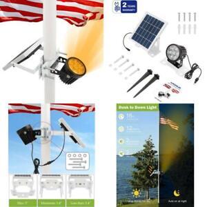 Solar Flag Pole Light Sun Powered Night Lamp Home Outdoor Patio Porch Use 1Pc