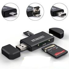 3 In 1 USB 2.0 Smart Memory Card Reader USB Type C  TF Mirco SD Card Gift