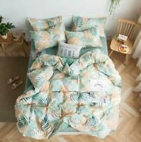 3D Green Yellow Leaves KEP2159 Bed Pillowcases Quilt Duvet Cover Kay