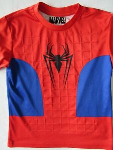 MARVEL Red/Blue Spider-Man Short Sleeve Shirt Boys size 5/6