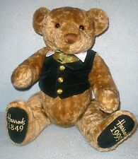 Large 1999 Harrods 150th Anniversary Annual Edition Christmas Teddy Bear Jointed