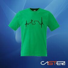 Camiseta moto bike latido linea vida basado vespa (ENVIO 24/48h)