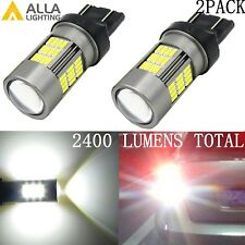 Alla Lighting 7443 54-LED Turn Signal Brake Tail Side Marker Light Bulbs, White