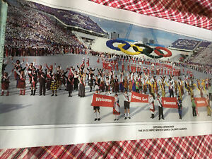 2 CALGARY 1988 Winter Olympics Games Official Olympic Opening Ceremonies Posters