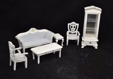 Living Room Set Victorian white dollhouse parlor T0131  1/12 scale miniature 6pc