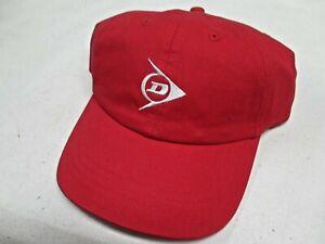 **NEW** UNISEX DUNLOP / SRIXON ADJUSTABLE CAP TENNIS. RED. 100% COTTON