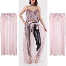 New Women Long Maxi Tulle Skirt Vintage 40's 50's Rockabilly Tutu Petticoat Ball