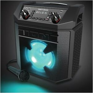 Ion Party Boom - 100W High-Power Rechargeable Speaker w/ Lights, Bass Boost LN™