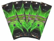 5 Packets of Lithium 75X Bronzer tanning lotion by Ultimate