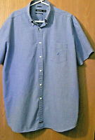 Mens Nautica Short Sleeve Shirt size XXL Blue small checked