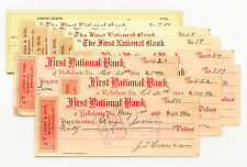 10 mixed Pennsylvania USA bank checks late 1800's- 1960's nice used
