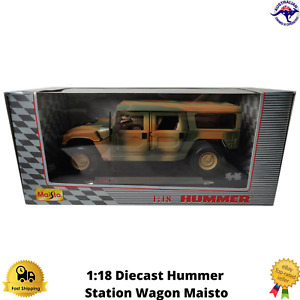 Diecast Model Hummer 1:18 Station Wagon Maisto Boxed Mobile Forces Steering New