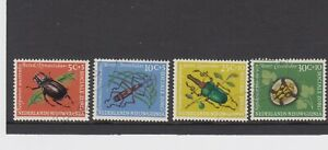 NETHERLANDS NEW GUINEA 1961 INSECTS S.G.75/8 FINE USED SET OF 4.