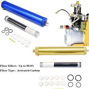 4500PSI PCP Compressor Oil Water Separator Air Pump Filter + 2x Cartridges 30Mpa