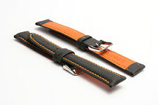 MEN's Hadley-Roma 18 mm Sailcloth Everyday CARRY Watch Strap-Arancione ms744