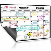 Homein Monatskalender Magnettafel Magnetisch Kalender Abwischbar Kühlschrank Mo