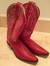 Woman's red Nocona boots size 7b handmade in USA