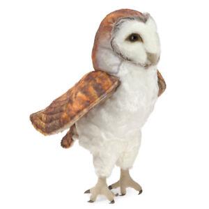 NEW PLUSH SOFT TOY Folkmanis 3124 Barn Owl Full Body Hand Puppet