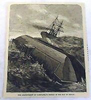 1878 magazine engraving ~ THE ABANDONMENT OF CLEOPATRA'S NEEDLE, BAY OF BISCAY