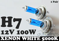 H7 12V 100W Xenon White 5000k Halogen Car Headlight Lamp Globes Bulbs LED HID