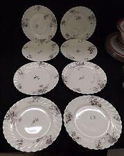 "Haviland & Co. Old Pansy #1152-5 Pink & Gray 8 Salad Plates 7 1/2""  Limoges"