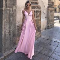 Ever-Pretty V-Neck Spaghetti Straps Long Evening Dress A-Line Wedding Prom Gowns