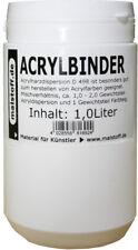 1 Liter Acrylbinder D498 für Acrylfarben oder Stukturpasten Malstoff