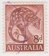 (PDX568) 1959 AU 8d Brown Tiger Cat (D)
