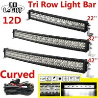 "Curved 22/32/42"" LED Arbeitsscheinwerfer Lichtbalken LKW Off-road SUV Light Bar"