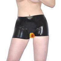 LATEX Gummi Hotpants ouvert* rubber Slip Shorts * Gr. S * schwarz glänzend Panty