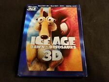 Ice Age Dawn Of The Dinosaurs 3D+Blu ray+DVD W/Slipcover,No Digital
