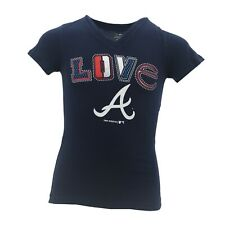 Atlanta Braves Official MLB Genuine Kids Youth Girls Size T-Shirt New with Tags