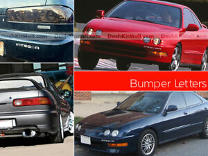 DKM | RED FRONT+REAR BUMPER INSERTS ACURA INTEGRA 1998-2001 NOT DECALS