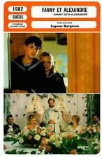 FICHE CINEMA : FANNY ET ALEXANDRE - Allwin,Bergman 1982