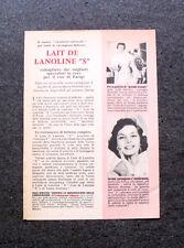 """L619- Advertising Pubblicità -1957- LAIT DE LANOLINE """"S"""""""