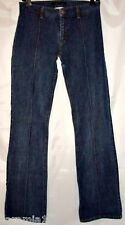 Theory Jeans Stretch Flare Dark Blue Denim size 4 Vintage