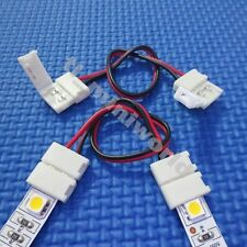 10x led-to-led Connector 2p 15cm wire for 10mm single color 5050 5630 led strip